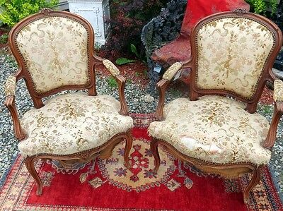 Louis Xv Fauteuil Extremely Rare Pair Of French Side Chairs Circa 1760