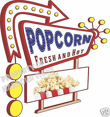 Freshly popped popcorn concession sign home movie theater vinyl wall decor decal