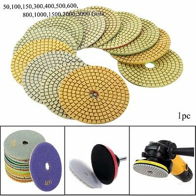 4'' 100mm Wet Diamond Polishing Pads For Granite Marble Concrete Individual Grit