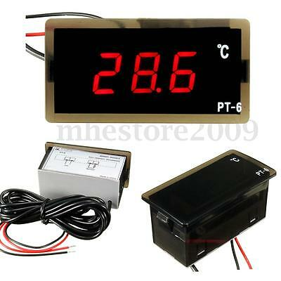 Car Vehicle Red LED Digital Thermometer Temperature Meter Probe 12V -40~110°C