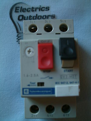Telemecanique Relay 1.6 - 2.5 Amp Manual Start Stop Switch Gv2-M07 Gv2M07 Iec947