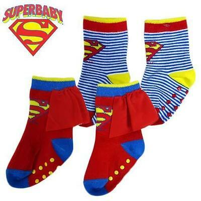 Superbaby 2 Pack Socks With Bonus Cape Bnwt Sizes 00-1 And 1 - 3