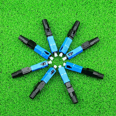 10Pcs SC Fiber Optic Quick Fast Connector Success Rate And High Reliability