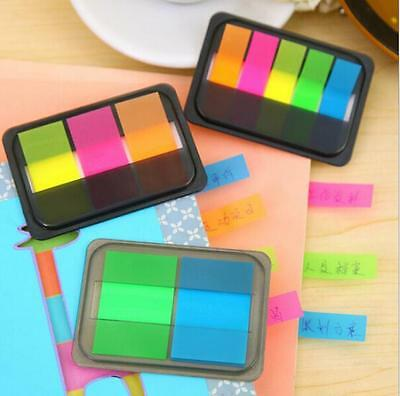 Small Sticky Post-It Notes Paper Diary Notebook Memo Pad Tab Office 5 Strips