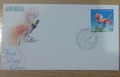 Papua & New Guinea 1984 Fdc Bird Of Paradise K5