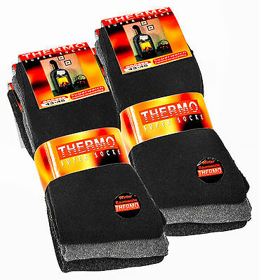 6 Paar Warme Herren Thermo-Socken Winter Socken Polar Strümpfe Vollfrottee