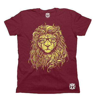 Hipster Lion Specs T-Shirt Unisex Mens Ladies HIPSTER Funny