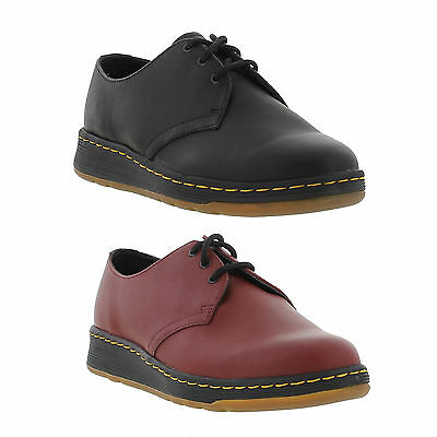 Dr Martens Cavendish Mens Lite Red Leather Lace Up Shoes Size 5-11