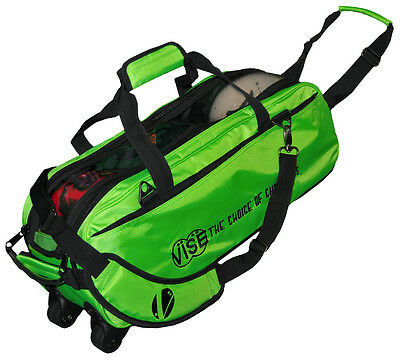 Vise 3 Ball Triple Tote Bowling Bag Green