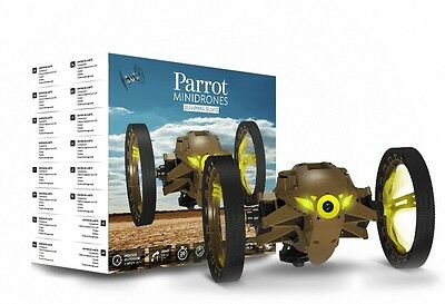 Parrot MiniDrone Jumping Sumo PF724002 with Wide Angle Camera in Color Khaki,NEW