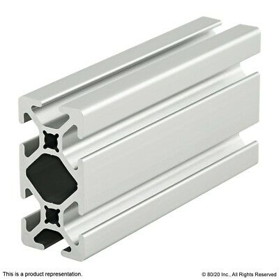 "8020 Inc 10 Series 1"" x 2"" Smooth T-Slot Aluminum Extrusion #1020-S x 36"" Long N"