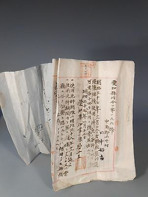 Japanese Japan Land Lease Contracts w/ Water Land Use Details & Other  ca. 1900