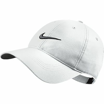 NEW Nike Legacy Tech Swoosh White/Black Adjustable Hat/Cap