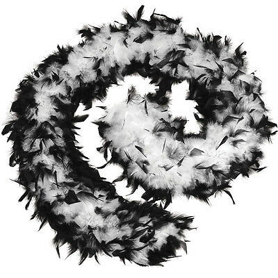 Feather Boa 80g for Flapper Molls Chorus Fancy Dress Accessory
