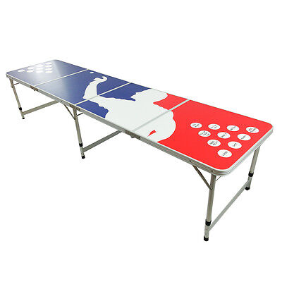 New Beer Pong Table 8' Aluminum Folding Indoor Outdoor Tailgate Drinking Game #7