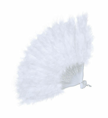 Feather Fan (Budget) Fan Accessory for Maid Cleaner Fancy Dress