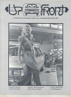 Nov Dec 1981 Subaru Magazine Brochure Volume II #11 my6446