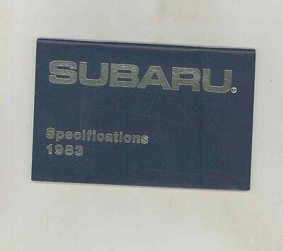 1983 Subaru Specifications Salesman's Brochure my6454