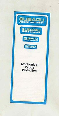 1983 Subaru Mechanical Repair Protection Small Brochure my6458