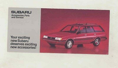 1984 Subaru Accessories Parts & Service Brochure my6462