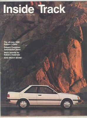 Spring 1986 Subaru 3-Door Magazine Brochure Volume XI #1 my6479