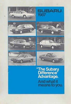 1987 The Subaru Difference Brochure my6484