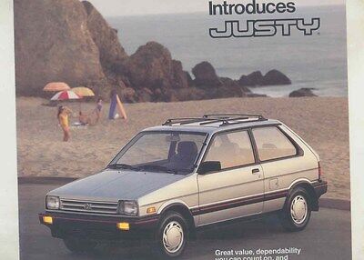 1987 Subaru Justy Large Brochure my6485