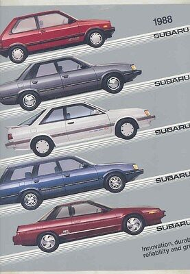 1988 Subaru Justy Sedan 3-Door Wagon XT Large Brochure my6489