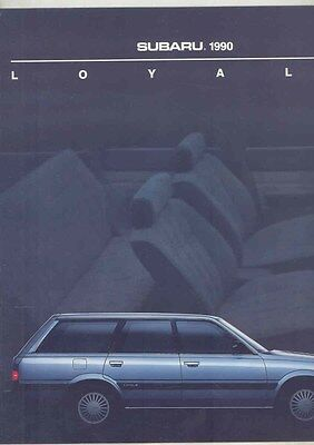 1990 Subaru Loyale Large Brochure my6500
