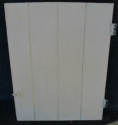 PAINTED ANTIQUE BEAD BOARD CABINET CUPBOARD DOOR w/ HINGES 23 X 29 1/4