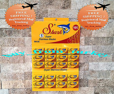 Shark Super Stainless Double Edge Razor Blades ( 100 Pieces )