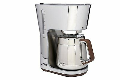 Krups Kt600 Silver Art Collection Thermal Carafe Coffee Maker Chrome Steel Wow