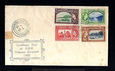 12727-TRINIDAD & TOBAGO-COVER S.F.1955.BRITISH.Caribbean tour princess MARGARET