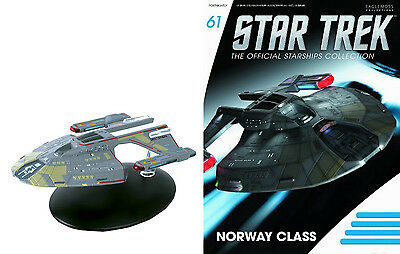 STAR TREK Official Starships Magazine #61 USS Budapest Norway Class Eaglemoss