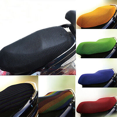 Fits Motorcycle 3D Wear-Resisting Breathable Mesh Seat Cover Cushion