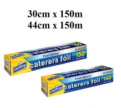 All Purpose Aluminium Caterers Foil Wrap Roll Dispenser Pack 150m Brand New