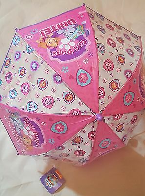 Nickelodeon PAW PATROL Pink LILAC Dome Umbrella Brolly Kids Girls Travel  School