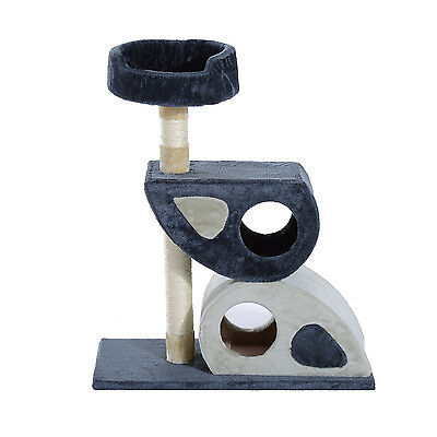 """Pawhut 34"""" Multi-Level Cat Tree Tower Play Toy Scratching Post Kitten Pet House"""