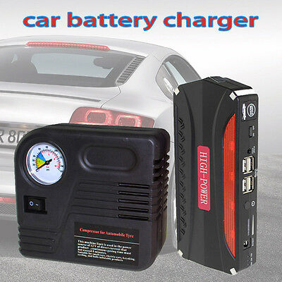 AU 68800mAh Auto Car Jump Starter 4USB Booster Battery Charger Power Bank HOT