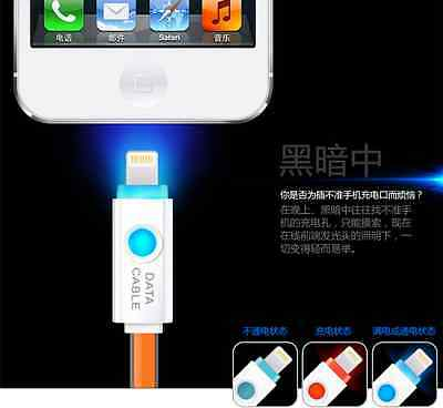 LED Light-Up Data Sync USB Charger Charging Cable Cord For iPhone 8 X XS max XR