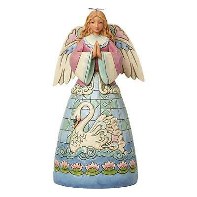 Jim Shore Heartwood Creek Grace Divine Angel With Swan Figurine New 4040793
