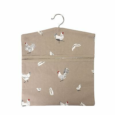 Rushbrookes Pecking Order Hanging Peg Storage Bag in Stone