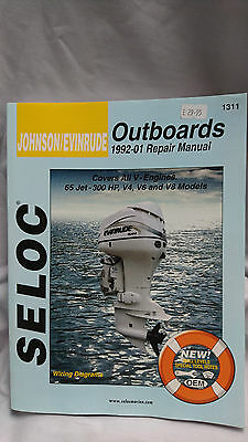 Johnson Evinrude Outboards 1992 to 2001 Repair Manual Covers All V Engines