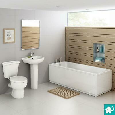 NEW Modern Complete Bathroom Suite 1700mm Bath, Toilet, Wash Basin Sink BSP035