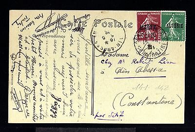 12791-ALGERIA-OLD POSTCARD SETIF to CONSTANTINE.1926.FRENCH colonies.ALGERIE.