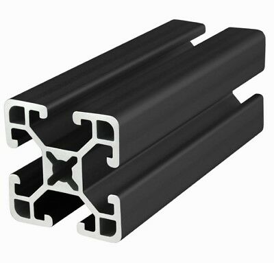 "80/20 Inc 15 Series  T-Slot Aluminum Extrusion 1515-ULS-BLACK x 96.5"" Long N"