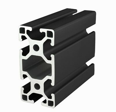 80/20 Inc 40mm x 80mm T-Slot Aluminum 40 Series 40-4080-Lite-Black x 1525mm N