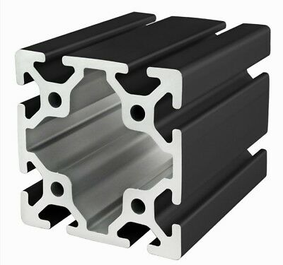 80/20 Inc 80mm x 80mm T-Slot Aluminum 40 Series 40-8080-Black x 915mm Long N