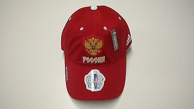 2016 World Cup of Hockey Team Russia adidas Hat Cap Slouch Buckle Adjustable OS