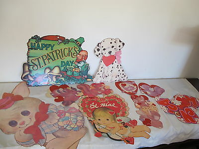Huge Lot Paper Decorations Valentines Day  Easter St Patricks Die Cuts